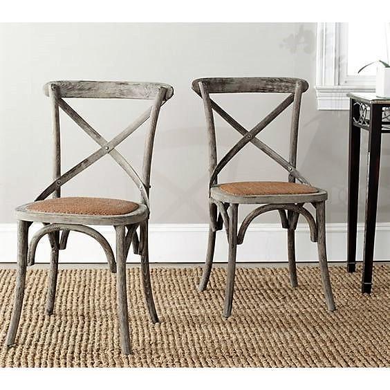 Madera lavada como acabado para estas sillas modelo Franklin X.