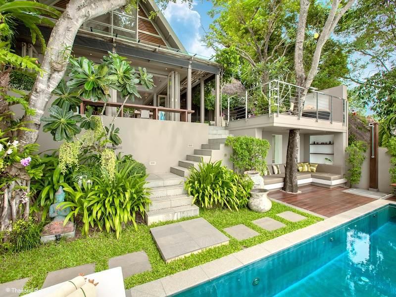 Una estructura moderna, con magníficas vistas en mitad del paraiso.