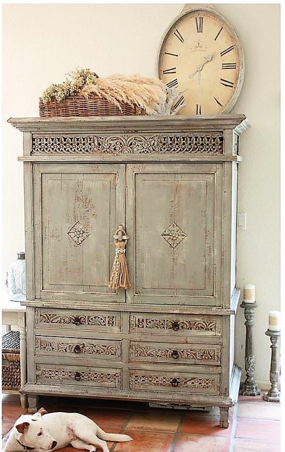 Acabados de madera lavadas - Muebles antiguos pintados de blanco ...
