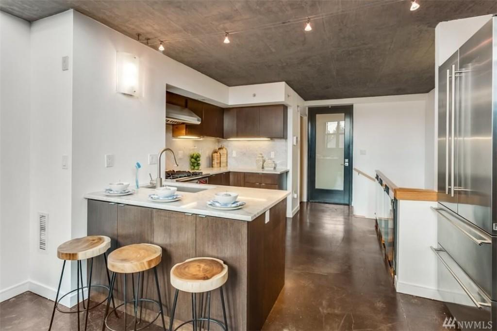 Imagen de la cocina de uno de los apartamentos.