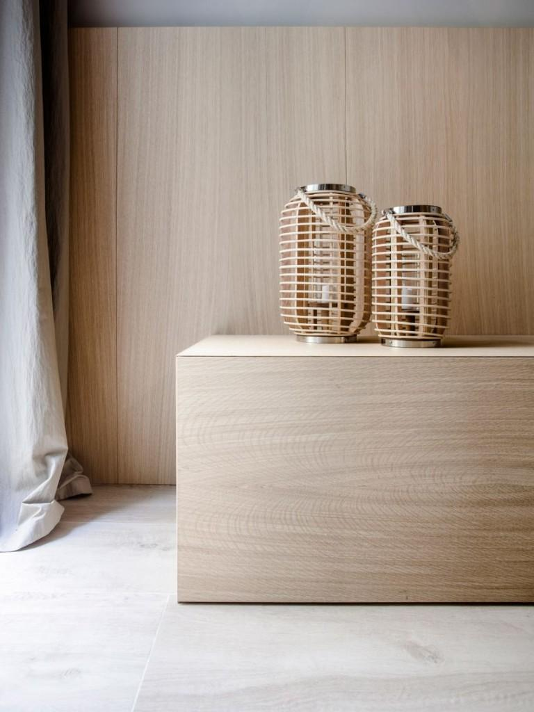 Apariencia minimalista con toques de estética Zen.