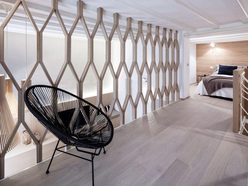 Imagen de otro de los dormitorios, en la planta superior, de este interesante triplex.
