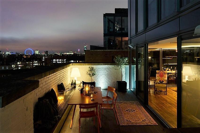 Vistas desde la terraza del ático.