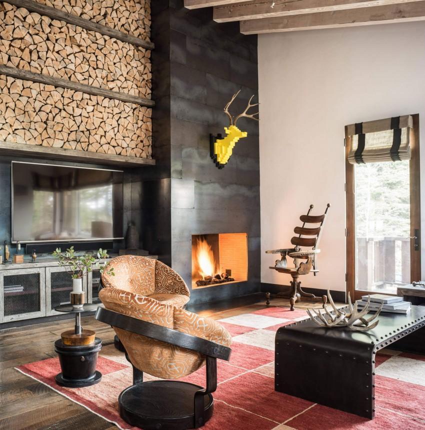 Piezas de diseño con un toque industrial, decoran la estancia.