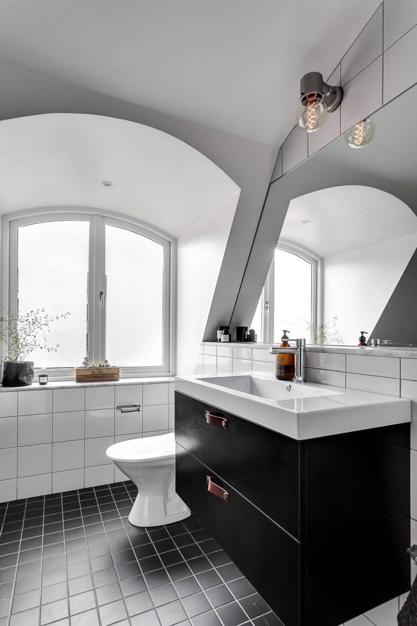 Blanco y cemento pulido for Concreto de cera en los azulejos del bano