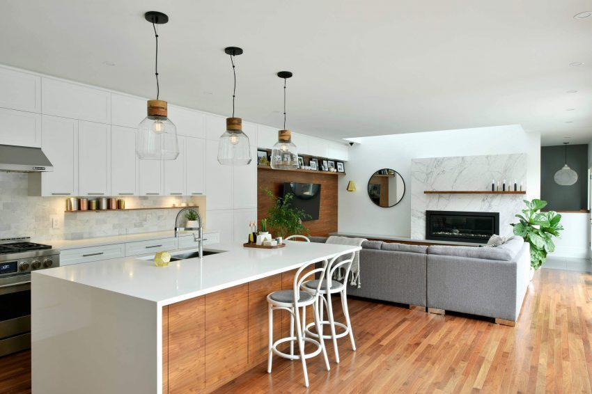 Una cocina contemporánea con un agradable toque retro.