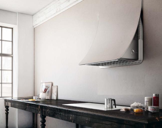 Un diseño, que se integra perfectamente en la pared de la cocina.