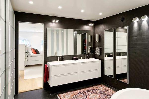 Imagen del interior de uno de los cuartos de baño.