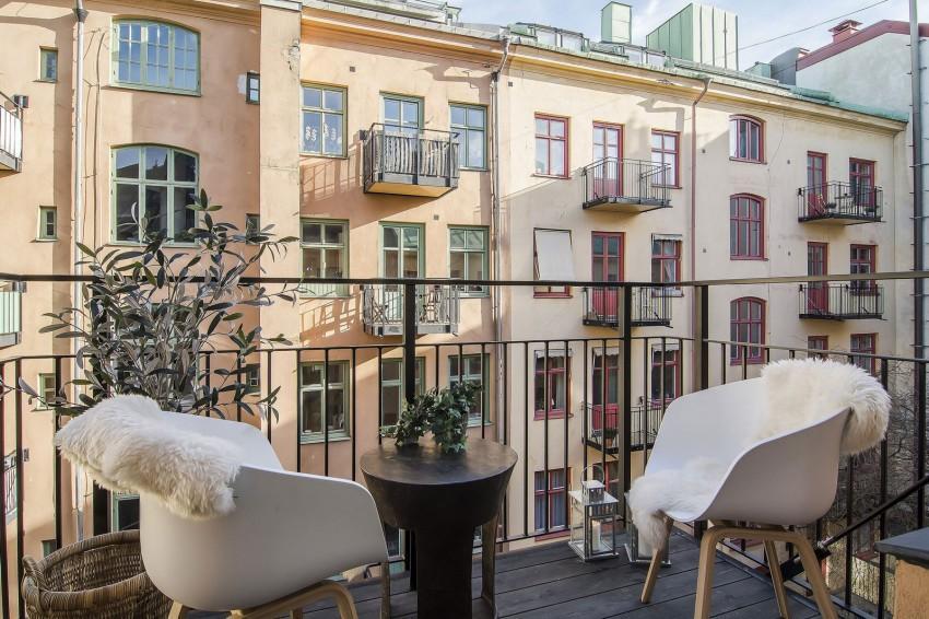 Vistas de la ciudad, desde el balcón del apartamento.