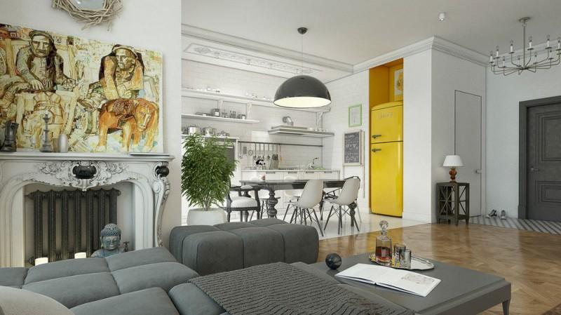 Los estilos clásicos y modernos, unidos en un mismo espacio.