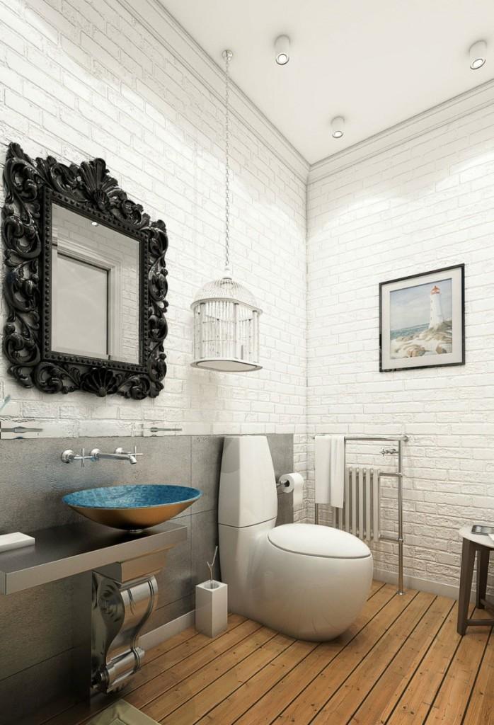 Modernidad y clasicismo, en el diseño del cuarto de baño.
